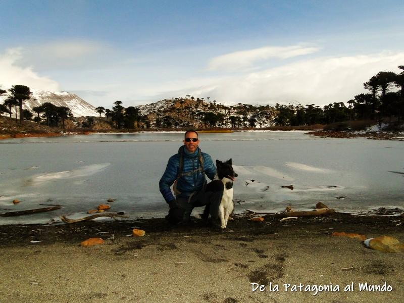 Laguna Escondida congelada